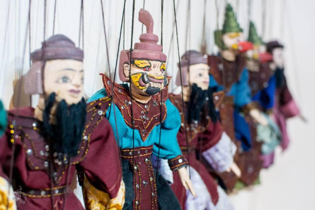 aung puppet show nyaungshwe inle lake myanmar