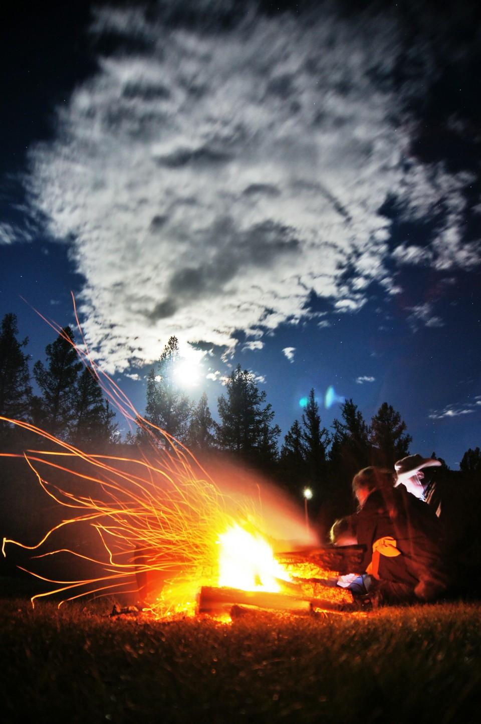 Mongolian camp fire