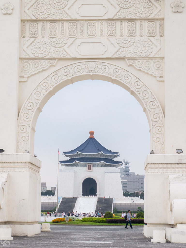 Chiang Kai-Shek Memorial Hall through Liberty Gate