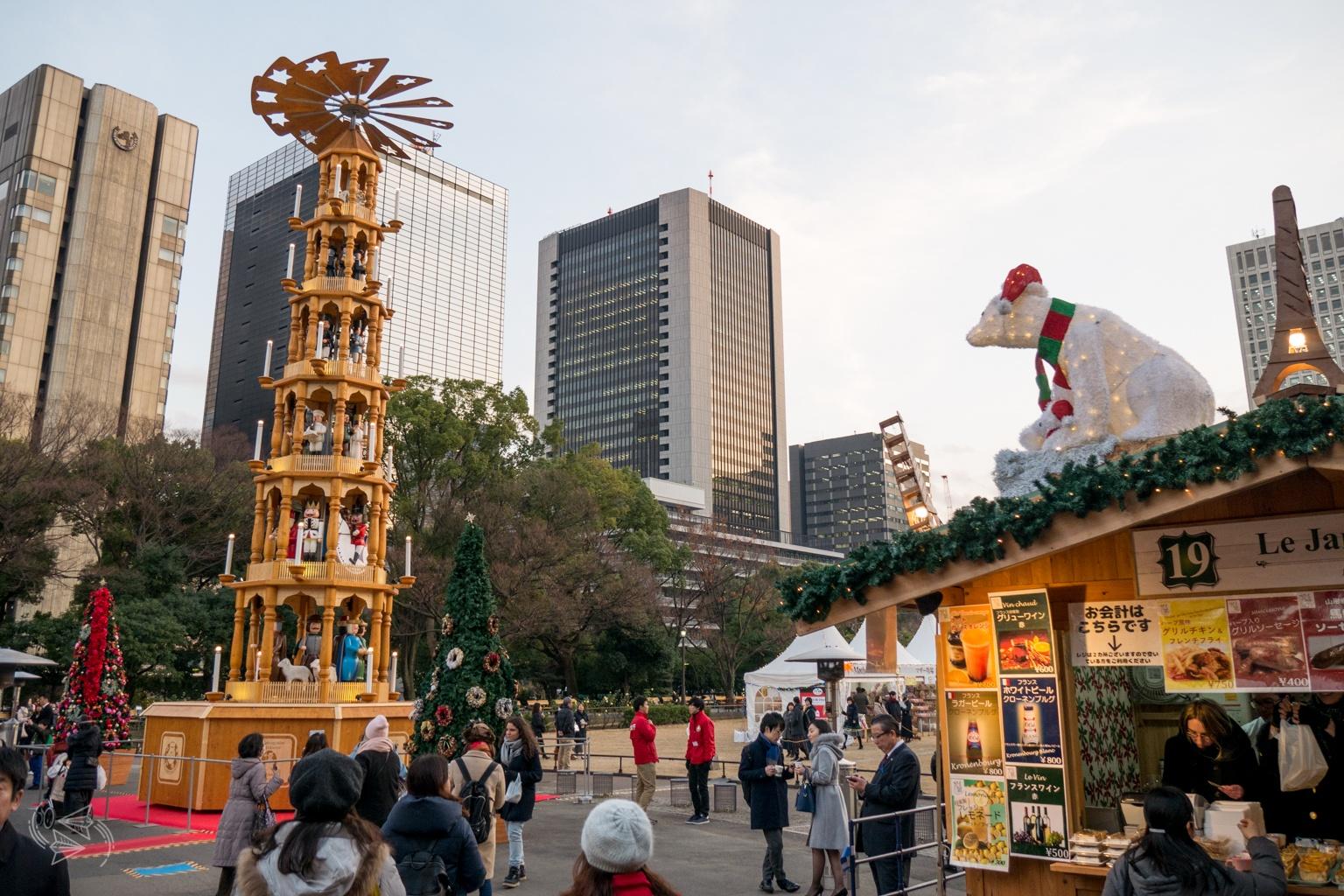 christmas pyramid tokyo christmas market