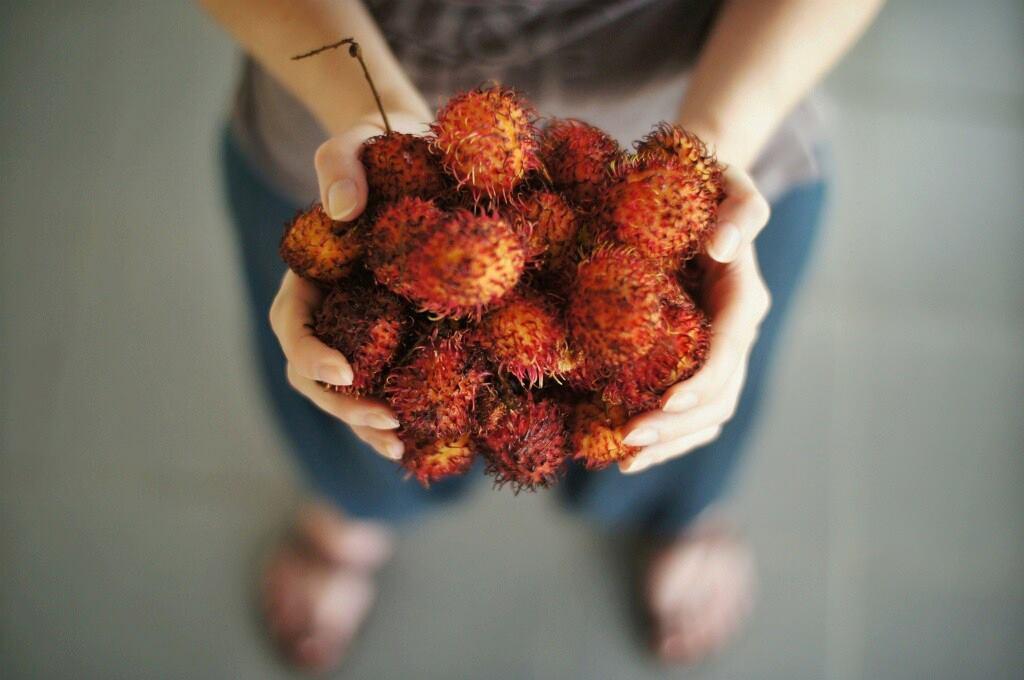 Handful of Rambutan
