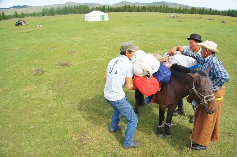 Horse riding, Central Mongolia