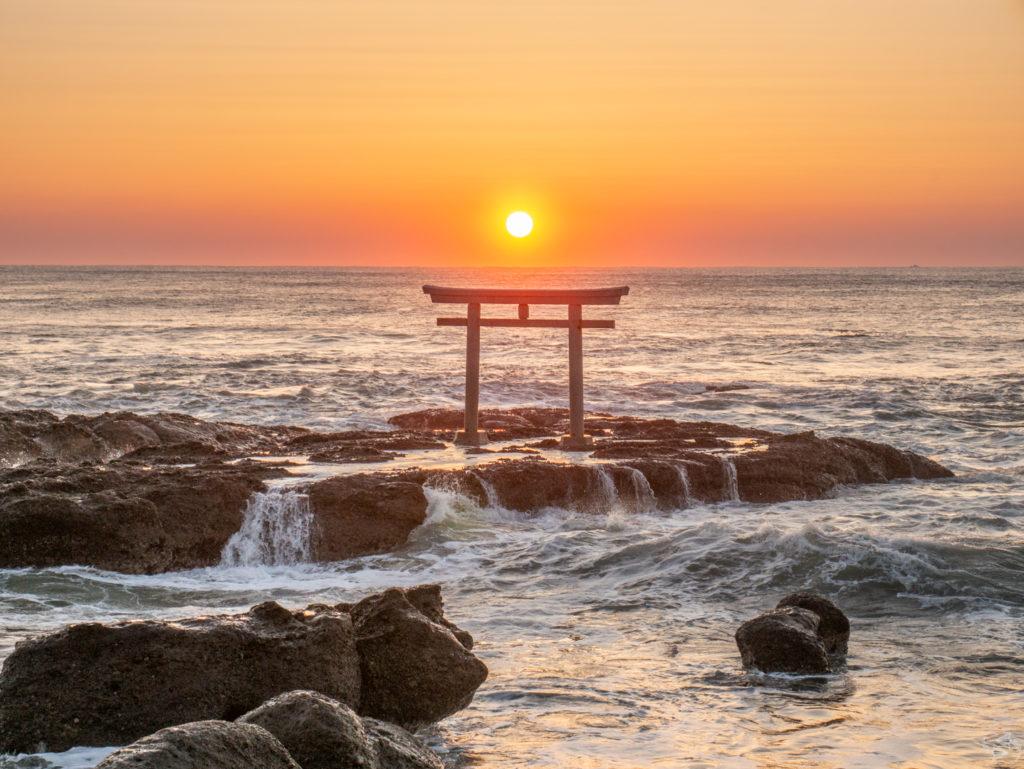 Kamiiso no Torii gate Oarai