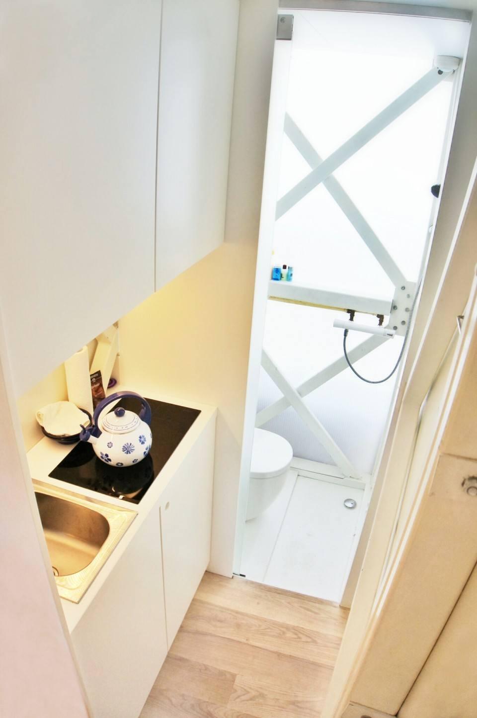 The Kitchen & Bathroom, Keret House, Warsaw, Poland
