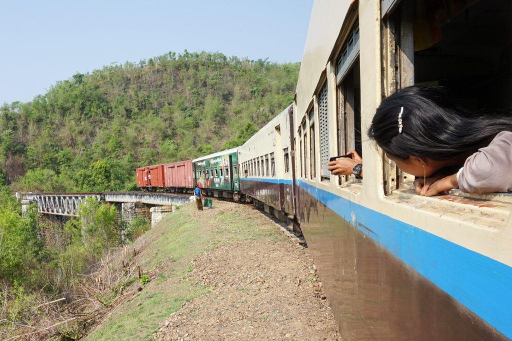myanmar travel slow train from thazi