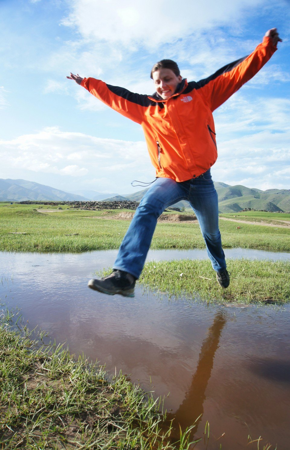 Water jumping, Orkhon Valley, Mongolia