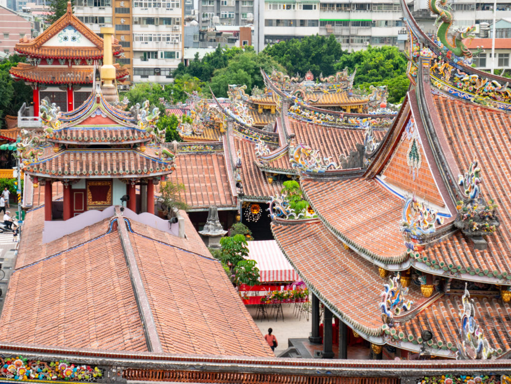 Dragon Roofs of Baoan Temple Taipei