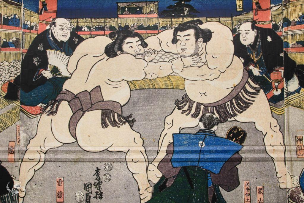 sumo tournament japan mural ryogoku kokugikan