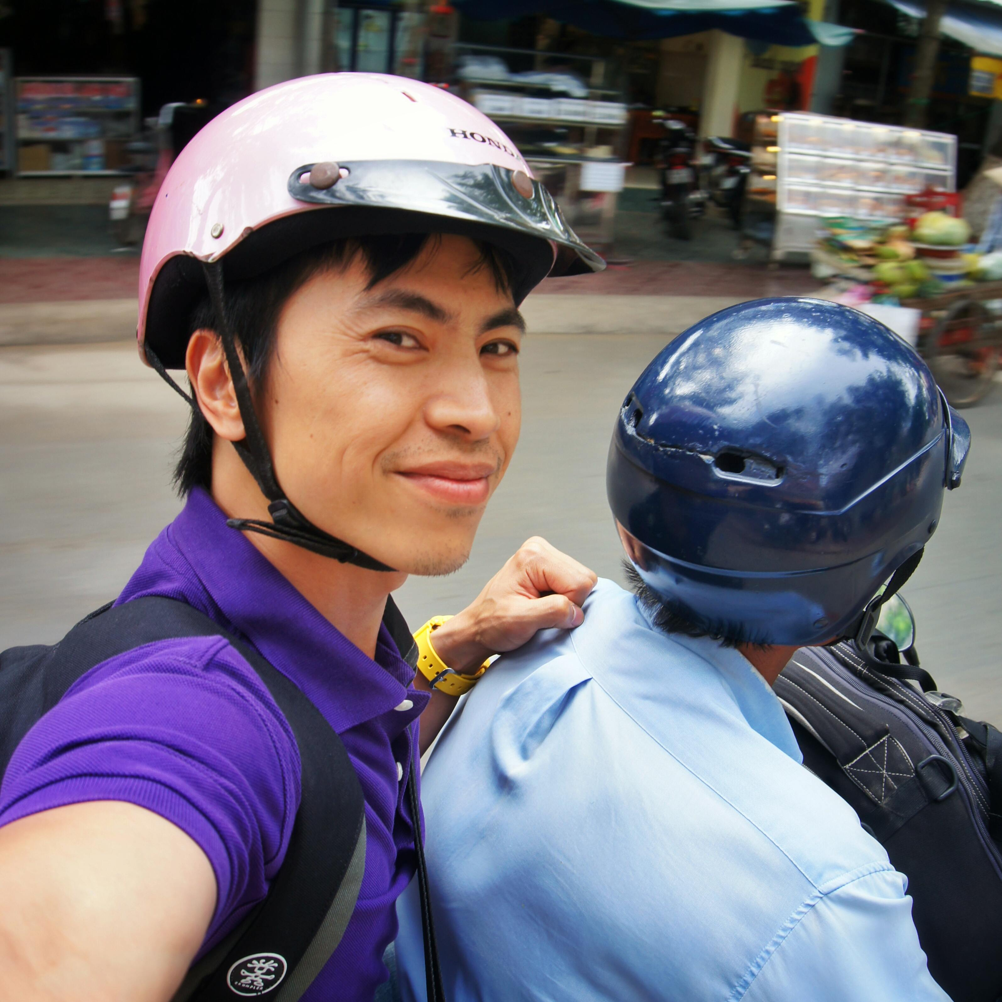 Motorbike ride, Tra Vinh, Vietnam