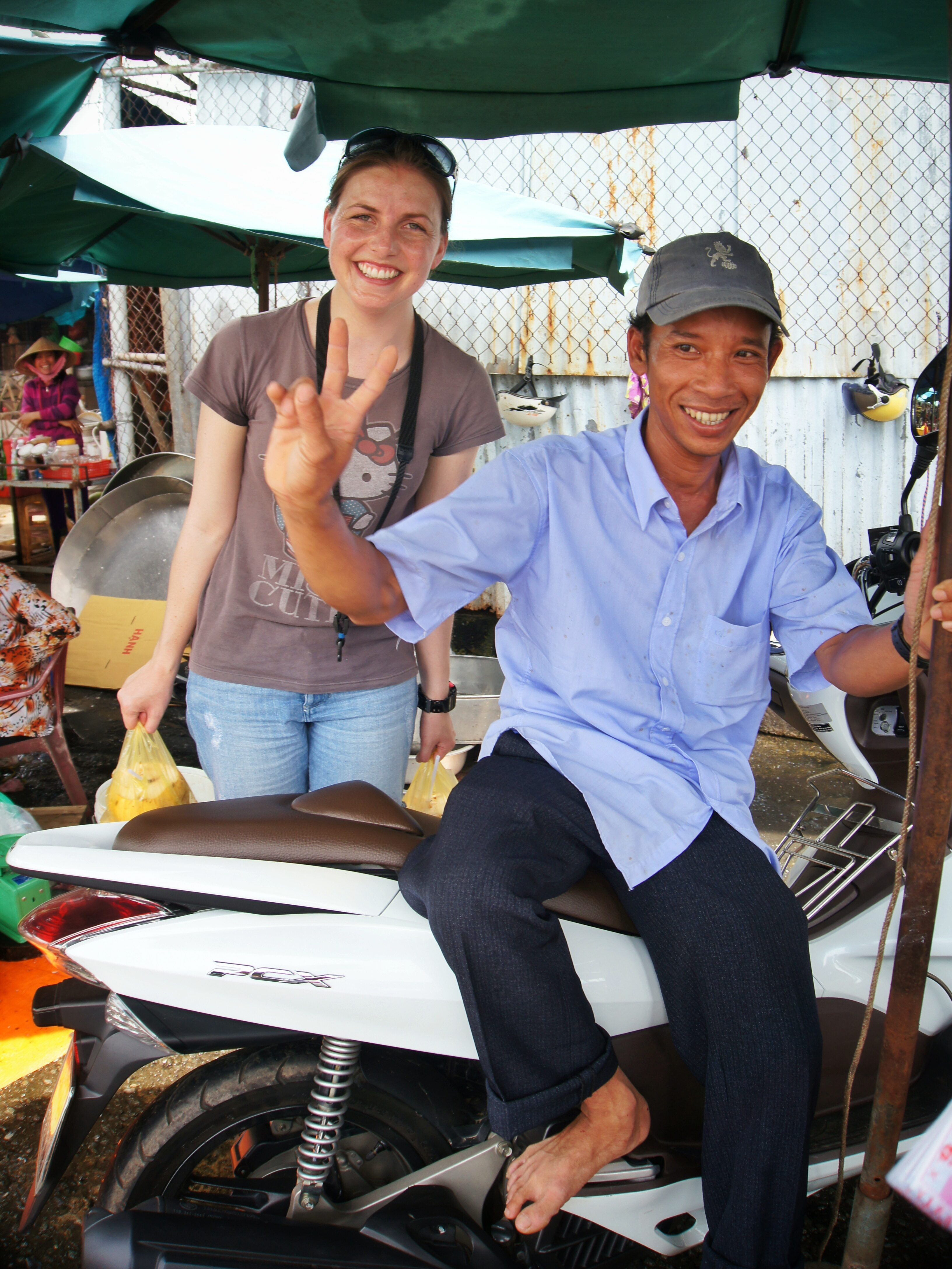 In search of a wife. With locals in Tra Vinh, Vietnam.